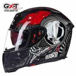 Wholesale Pink Abs - Wholesale- 2016 NEW Genuine High Quality GXT full face helmets motorcycle winter helmet Motorbike helmets Casco Capacete YH966
