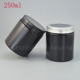 Wholesale Wholesale Large Glass Jars - 250G Large Capacity Black Empty Cream Jars,DIY Lotion And Cream Containers,Empty Cosmetic Containers,Makeup Cosmetics Container