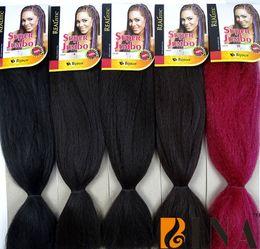 Wholesale Expressions Braiding Hair - BINA HAIR 48inches synthetic braiding hair extensions black brown yaki expression super braid crochet twist box braid