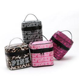 Wholesale Embroidery Cosmetic Bag - 2017 Fashion Style Victoria Classic Love Pink Secret Cosmetic Bag Double Zipper Handbag Portable Storage Bag 4 Colors