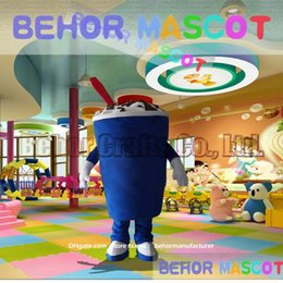 Wholesale Ice Cream Mascot Costumes - Drink cup mascot costume free shipping, cheap high quality carnival party Fancy plush walking Ice cream cups mascot adult size.