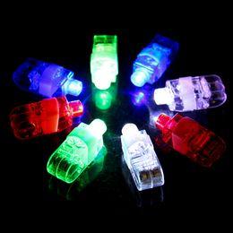 Wholesale Mini Beam Laser Light - Children Toys Laser Fingers Beams Colorful LED Light Mini Glow Ring Chilidren Toys For Party Wedding Festival Night Decorations