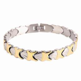 Wholesale Bracelet Seashells - Simple Stainless Steel Bracelet for Men Cool seashell pattern chain Braclets & Bangles 20cm Male Female Hip Hop Party Punk Rock Jewelry