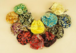 Wholesale Chinese Brocade Pouches - Thicker brocade pouch jewelry pouch silk Beads bags chinese style jewelry bags Bracelet Bag