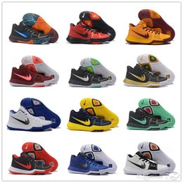 Wholesale Sport New Leather Shoes Men - 2017 New Kyrie 3 III Basketball Shoes Men's High Quality Outdoor cheap Original Kyrie Lrving 3 For Mans Sport Basketball shoe Sneaker 7-12
