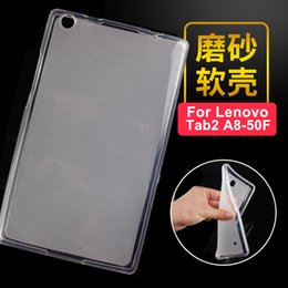 cover back lenovo tab Coupons - Wholesale- Luxury Ultra Slim Waterproof Soft Silicone Rubber TPU Back Cover Protective Case For Lenovo Tab 2 A8 A8-50 A8-50F A8-50LC Tablet