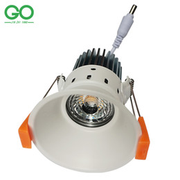 Wholesale Downlight Fixtures - LED Downlight 12W COB Down Light Dimmable Non-dimmable LED Ceiling Downlights White fixture 110V 120V 220V 230V 240V 85-265VAC Spot Lights