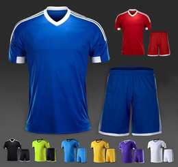 Wholesale Team Sport Training - High praise Popular Running plate vertical stripe football team breathable absorbent games sports shirt suits short-sleeved training suit