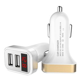 Deutschland Großhandels-Universal 2 usb Auto-Ladegerät-Adapter für SANYO Vero SCP-2500 S1 I LED-Digitalanzeige Spannung für Renault S.A. für Citroen supplier sanyo charger Versorgung