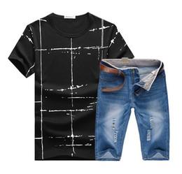 Wholesale Men Suit Design Embroidery - New Men Sport Suit Short Sleeve Tops Shorts Classic Design Mens Gym Set Breathable Male Jogging Suits Running Sets