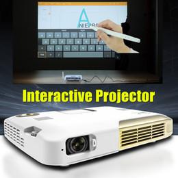 projecteurs d'école Promotion Gros-Mini projecteur 4K vidéo électronique interactif stylo projecteur pour l'éducation scolaire Présentation Touchpad contrôle construire dans la batterie