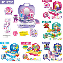 Wholesale Kitchen Plastic Girls - 2017 NEW simulation Children Kitchen Cooking Play food sets Dress up toys Christmas Gifts for Girls Boys Pretend Play toys 10 styles C3207