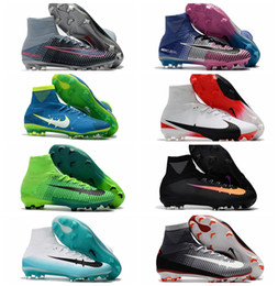 Wholesale Lace Boots For Cheap - Mercurial Superfly V DF SX Neymar FG Football Boots High Ankle Soccer Cleats For Men Cheap Superflys Soccer Boots Mens Soccer Shoes 2017