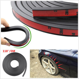 Wholesale Eyebrows Cars - 118'' PVC Car Fender Flares Extension Black Wheel Eyebrow Protector Lip Trim