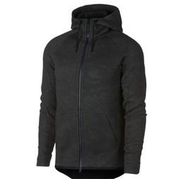 Wholesale fleece knit jacket - 2017 new autumn winter Large size SPORTSWEAR TECH FLEECE WINDRUNNER HOODIE fashion leisure sports jacket running fitness jacket coat