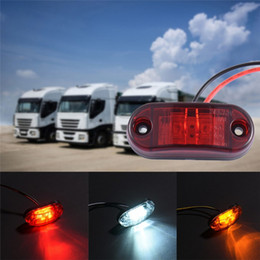 Wholesale Marker Led - 24v 12v Led Side Marker Lights for Trailer Trucks Caravan Side Clearance Marker Light Lamp Amber Red White Yellow