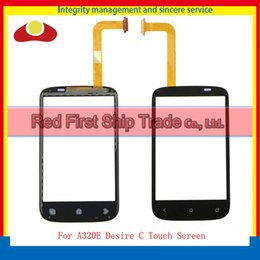 Wholesale Desire C Digitizer - High Quality For HTC A320E Desire C Touch Screen Digitizer Sensor Front Glass Lens Panel Black White