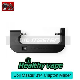 Wholesale Battery Makers - Original Coil Master 314 Kit Clapton Coil Maker Coiling Tool for Electronic Cigarette DIY Coil Powered by a single 18650 battery