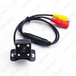Wholesale Universal Backup Camera - Universal Car Rear View 4-LED Night Vision Car CCD Reversing Backup Camera DC12V #3234