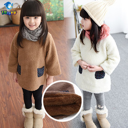 Wholesale Pullover Child Female - Wholesale- TUTUYU Children Girls Long Sweater Kids Casual Warm Long Pullover Sweater Autumn Winter Teenage Female Knitte Clothes D033