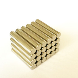 Cilindro magnético online-Nueva barra magnética, imán a granel Cilindro Dia4x20mm Neodimio Rare Earth Magnetic Bar Rods N35 25pcs / lot