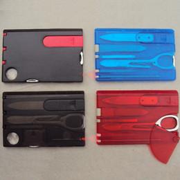Cuchillo de la tarjeta de Suiza herramientas de belleza para acampar al aire libre con luz LED Multifunción Tarjeta de supervivencia suizo cuchillo Envío Gratis desde fabricantes