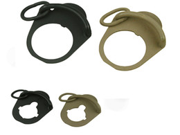 Wholesale Airsoft Aeg Metal - Airsoft Metal Sling Adapter Mount  sling ring End Plate for M4   M16 GBB AEG Airsoft Hunting Accessories