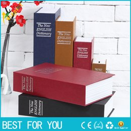 Wholesale Dictionary Book Safe - New hot Big Size Simulation Dictionary Book Safe Cash Money Jewelry Home Secret Locker Storage Box with a key lock