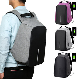 Wholesale Laptop Security - Waterproof School Bags College Teenage Laptop Backpack Men Travel Security USB Charge Anti Theft Backpack