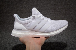 Wholesale Size Us4 - 2017 New Ultraboost 3.0 Running Shoes Men Women High Quality Ultra Boost 3 III White Black Athletic Shoes Size 36-45