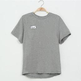 Wholesale Tshirt Casual Sweet - Wholesale-Summer Fashion Harajuku Cat Lovers Women Top Short-sleeve T shirt Sweet Style Tshirt