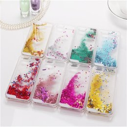 Wholesale S4 Liquid - Floating glitter Heart Running Quicksand Liquid Dynamic Hard Case clear transparent shining Cover For Samsung s3 s4 s5 s6 edge note 2 3 4 5