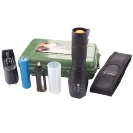 Wholesale Brightest Flashlight Tactical - PeakPlus Brightest Zoomable Adjustable Focus 5 Modes, LED Tactical Flashlight, Outdoor Torch with Rechargeable 18650 Lithium Ion Battery