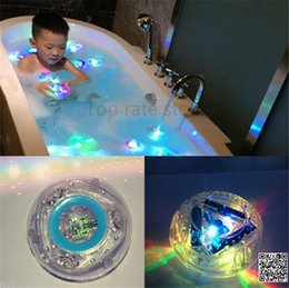 Wholesale Lights For Bath Tub - Wholesale-Colorful Bathroom LED Pool Light Kids Waterproof Flashing Bath Tub Toys Funny Shower Party Nightlight Floating Toy For Child