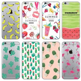 Wholesale Girly Wholesale - Cute Girly Phone Cases Unicorn Flamingo Cover for iphone 7 plus 5 5s SE 6 6s Soft Silicone Case Cactus Fruit Banana accessories