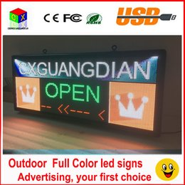 Wholesale Scrolling Screen - RGB full color LED sign 18''X40''  support scrolling text LED advertising screen   programmable image video outdoor LED display