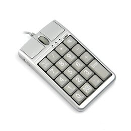teclado de estilo livre Desconto 2 em 1 iOne Scorpius N4 Rato Óptico USB Teclado Com Fio 19 Numérico Teclado Rolo de Rolagem para a entrada de dados rápida mouse teclado USB