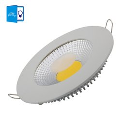 Wholesale Led Ceiling Grid - Wholesale- [DBF]LED Downlight 5W 10W 15W LED COB Slim Round Ceiling Recessed Grid Downlight + Integrated high efficiency LED Driver