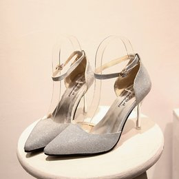 Wholesale Stiletto Heels Wholesale - 2017 New Arrivals Spring Autumn Women's Loafers Casual Women High Heel Shoes Boat Pointed Toe Shoes
