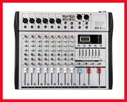 Wholesale Dj Audio Mixers - Wholesale- Professional Audio Mixer 8 Channels 7 Stereo Graphic EQ Mixing Console MX8 Mezcladora De DJ