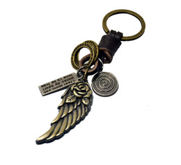 Wholesale Women For Sail - new product cool wing of angel charm sail compass skeleton golden fish key chain key rings for bags or car key