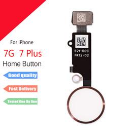 Para iphone 7 7 plus início button botão de impressão digital flex cable peças de reposição para iphone 6 6 splus de