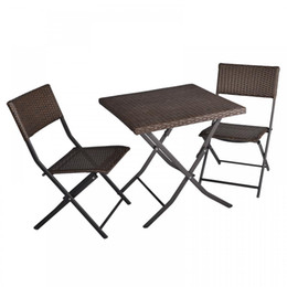 Wholesale 3 Piece Table And Chairs Patio Deck Outdoor Bistro Cafe Furniture Wicker Set