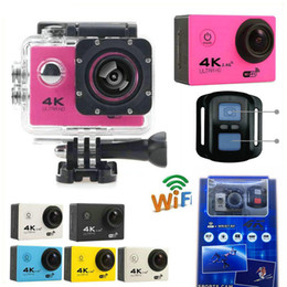 Wholesale Video Camera Hd 16mp - Cheapest 4K Action Camera F60R WIFI 2.4G Remote Control Waterproof Video Camera 16MP 12MP 4K 30FPS Diving Recorder JBD-N5