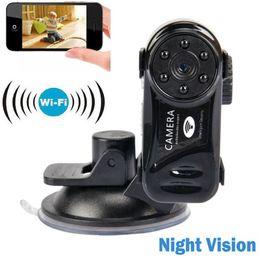 ip phone recorder Скидка WiFi Mini DV Беспроводная IP-камера DVR видеокамера ночного видения видеомагнитофон wifi Remote с помощью смартфона главная камера безопасности MD81S-6