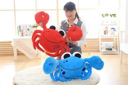 Wholesale Blue Staff - 1pc Staffed Cute Crab Plush Pillows Creative Birthday Gift Cartoon Steamed Crab Plush Toys Kids Doll Sofa Cushion