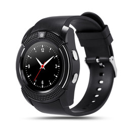 v8 sport smartwatch Coupons - Smart Watch V8 Round Dial Bluetooth Smartwatch Phones Supports SIM with Camera Sports Wrist Watches for Android iOS Wearable Wristwatch