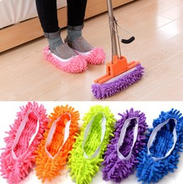microfiber cleaning shoes Promo Codes - (10 pieces lot=5pairs)Non Slip Cover Set Clean Clothe Cleaning Floor Chenille Microfiber Shoe Overshoes Floorcloth Wiping wn250 100pair