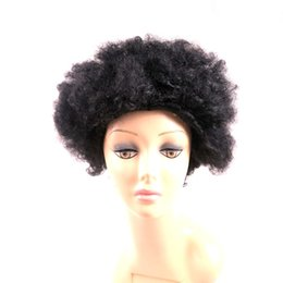 Wholesale Kanekalon Hair Wigs - Synthetic hair wigs Afro Kinky Curly African American style wig Heat Resistant Kanekalon Short Curly synthetic wigs