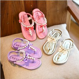Wholesale Sandwich Wraps - Children's shoes 2017 summer new children's sandwich sandals girls water cooler slippers beach shoes big children princess shoes